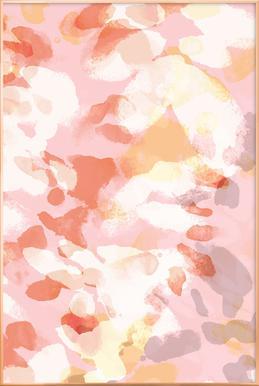 Floral Pastell affiche sous cadre en aluminium