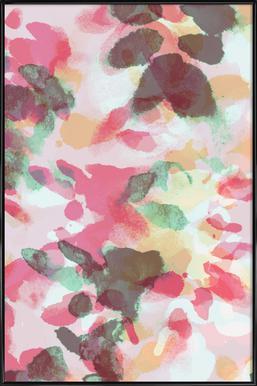 Floral Aquaellic ingelijste poster
