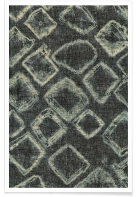Textile Study Bordeaux Poster
