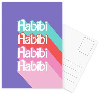 Habibi Rainbow Postcard Set