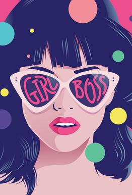 Girl Boss Aluminium Print