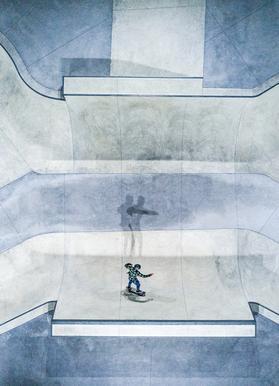 Skate -Leinwandbild
