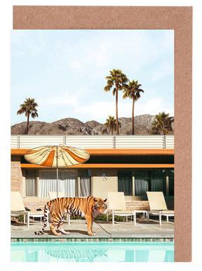 Pool Party Tiger Greeting Card Set