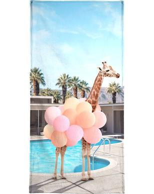 Giraffe Palm Springs Bath Towel