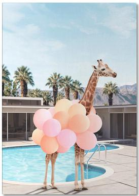 Giraffe Palm Springs Notepad
