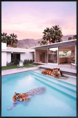 Palm Springs -Bild mit Kunststoffrahmen