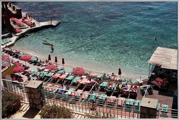 Amalfi -Poster im Alurahmen