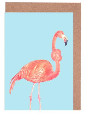 Flamingo with a Big Problem Greeting Card Set
