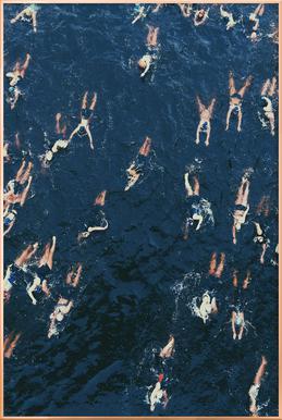 Swimming poster in aluminium lijst