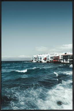 Wild Sea Waves ingelijste poster