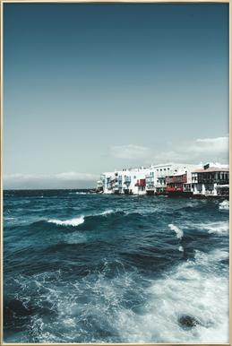 Wild Sea Waves Plakat i aluminiumsramme