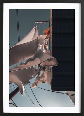 Drying Clothes ingelijste print