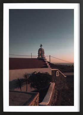 Sundown Church ingelijste print