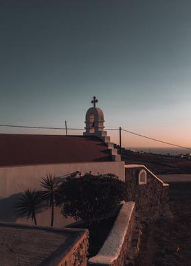 Sundown Church canvas doek