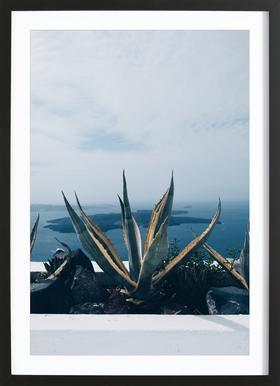 Santorini ingelijste print