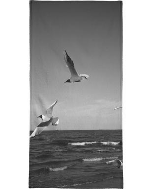 Seagulls III Beach Towel