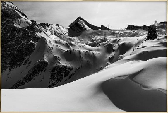 Mountains V Poster in Aluminium Frame