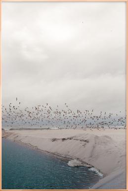 Portugal Beach Poster in Aluminium Frame