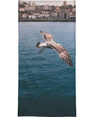 Seagull in Porto Bath Towel