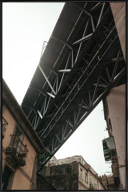 Bridge in Porto affiche encadrée