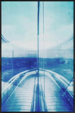 Reflection Blue -Bild mit Kunststoffrahmen