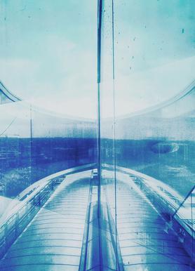 Reflection Blue Canvas Print