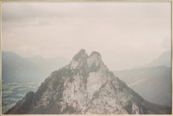 Breathe -Poster im Alurahmen