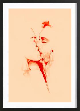 Amorousness ingelijste print