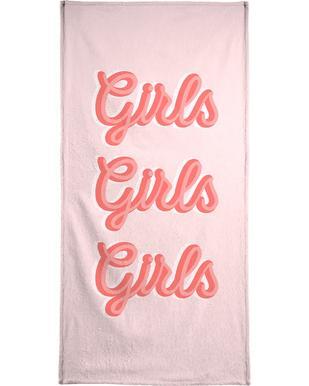 Girls Girls Girls Beach Towel