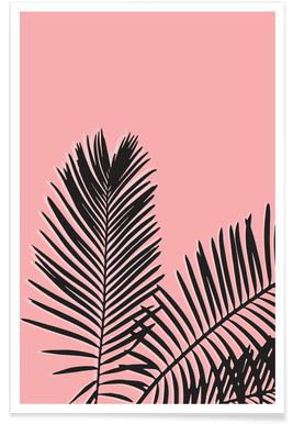 Pink Palm -Poster