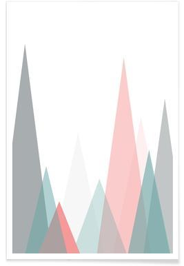 Pastel Mountains Poster