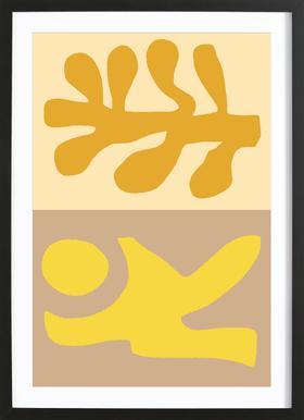 Golden Hair ingelijste print