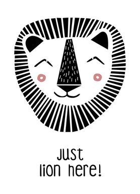 Just Lion Here! Canvas Print