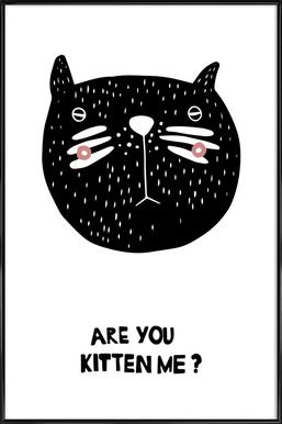 Are You Kitten Me? Framed Poster
