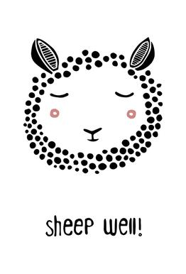Sheep Well! Plakat af akrylglas