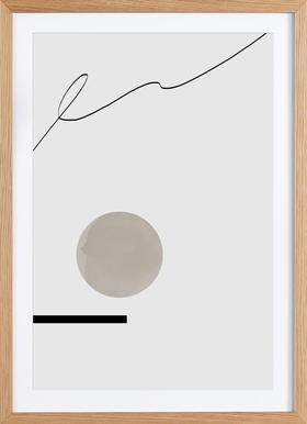Jump - Poster in Wooden Frame