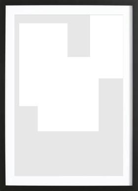 Three White Ones Framed Print