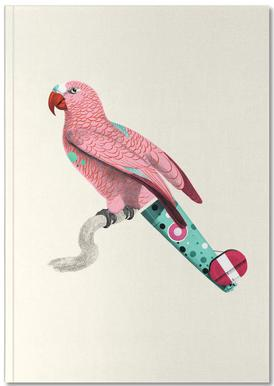 Pale Pink Parrot Notebook