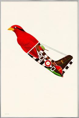 Aerofauna Red -Poster im Alurahmen