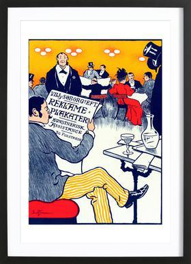 Danish poster for Posters artistiques - Paul Fischer -Bild mit Holzrahmen