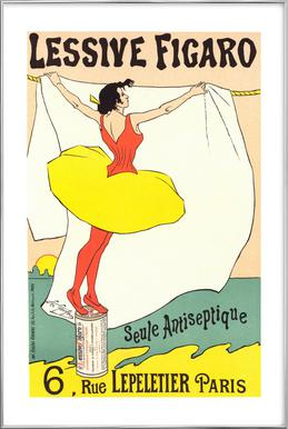 Poster for Lessive Figaro - Léo Gausson -Poster im Alurahmen