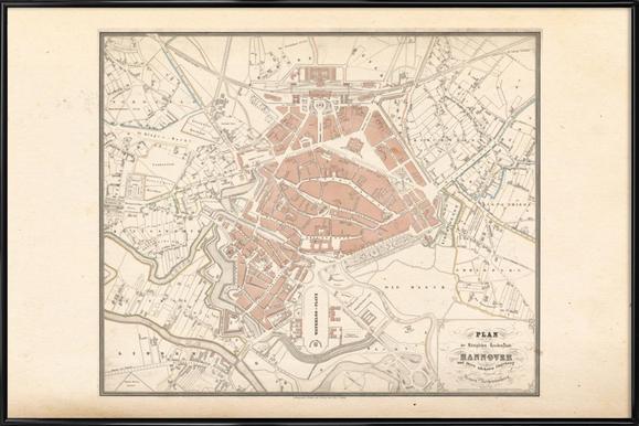 Hanover, Germany, 1827 -Bild mit Kunststoffrahmen