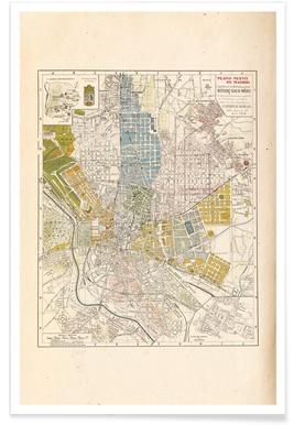 Vintage World Maps | Retro Prints of Cities, Countries ...