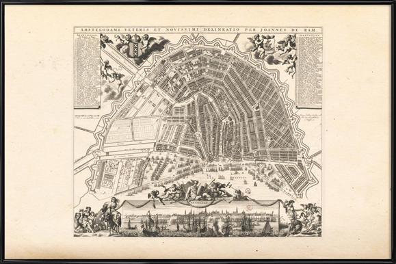 Amsterdam, The Netherlands, 1683 -Bild mit Kunststoffrahmen