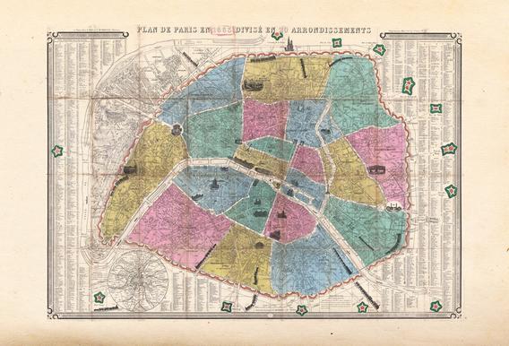 Henriot Paris, Frankreich-Karte -Poster