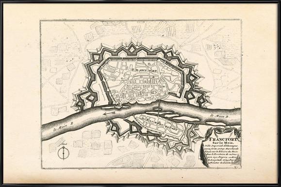 Frankfurt Am Main, Germany, 1726 Framed Poster