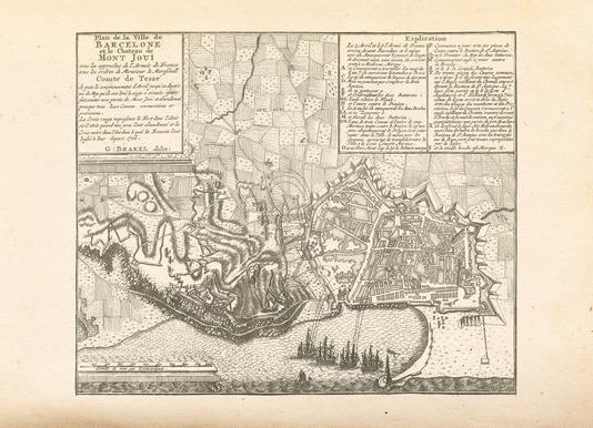 Barcelona, Spain, 1706 -Leinwandbild