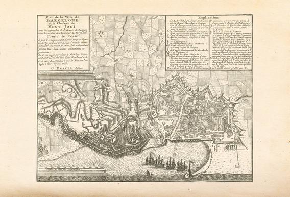 Barcelona, Spain, 1706 -Acrylglasbild