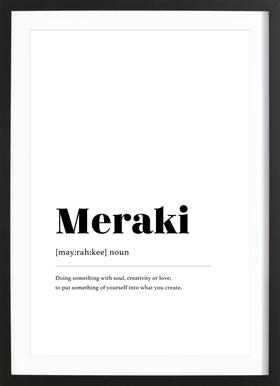 Meraki Framed Print