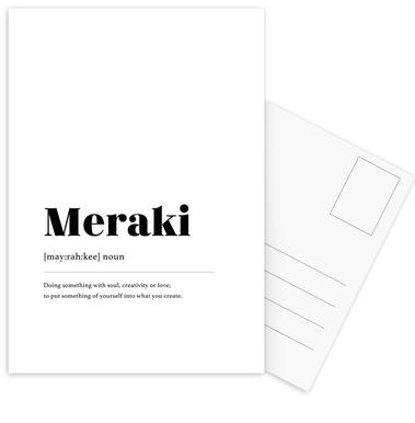 Meraki Postcard Set